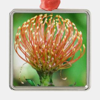 wild flower Silver-Colored square decoration