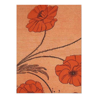 Wild Flowers 14 Cm X 19 Cm Invitation Card