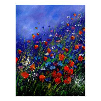 wild flowers 787 postcard