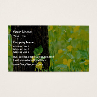 Wild flowers and tree, Sherbrooke, Quebec, Canada Business Card
