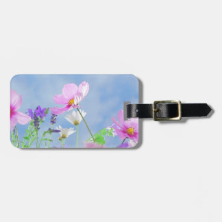 Wild Flowers Blue Sky Luggage Tag