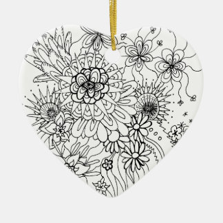 Wild Flowers Ceramic Ornament