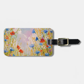 Wild flowers luggage tag