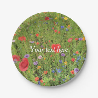 Wild flowers mix Custom Paper Plates 7 in