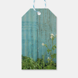 wild flowers nature blue paint fence texture gift tags