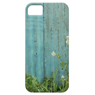 wild flowers nature blue paint fence texture iPhone 5 cover