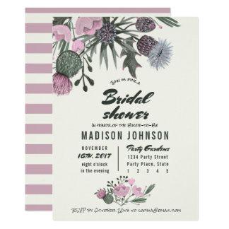 Wild Flowers pale pink | Bridal Shower Invitations