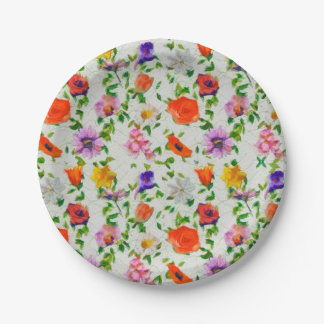 Wild Flowers Paper Plate