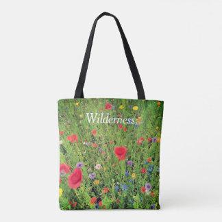 Wild flowers Photo  Custom All-Over-Print Tote Bag