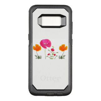 wild flowers poppies and flax OtterBox commuter samsung galaxy s8 case