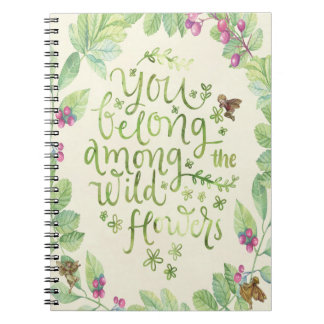 wild flowers quote botanical fairies notebook