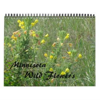 Wild flowers wall calendar