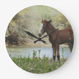 Wild Foal Artwork Wall Clock