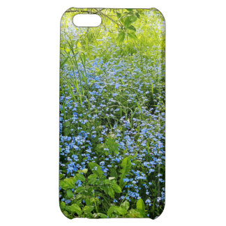 Wild forge me nots flowers photo cover for iPhone 5C