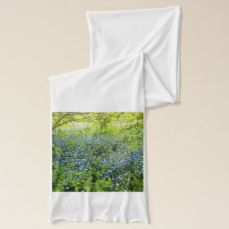 Wild forge me nots flowers photo scarf