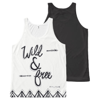 Wild & Free All-Over Print Tank Top
