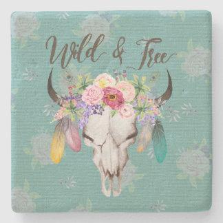 Wild & Free Boho Coaster (Faded Turquoise)