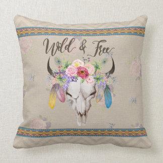Wild & Free Boho Pillow (Antique Beige)