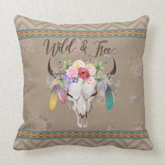 Wild & Free Boho Pillow (Antique Brown)