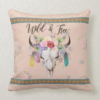 Wild & Free Boho Pillow (Vintage Peach)