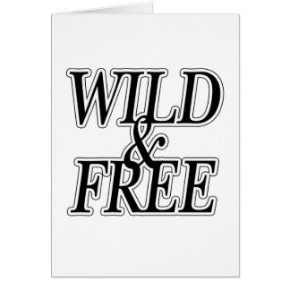 Wild&free Greeting Card