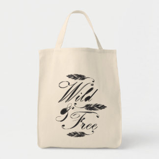 Wild & Free Grocery Tote Bag