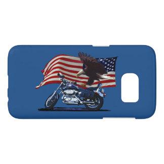 Wild & Free - Patriotic Eagle, Motorbike & US Flag