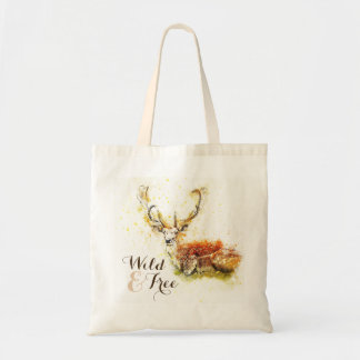 Wild & Free Watercolor Deer | Reusable Tote