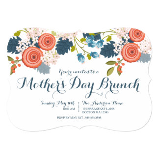 Wild Garden Floral Mother's Day Brunch Invitation