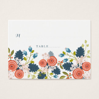 Wild Garden Floral Wedding Seating Card