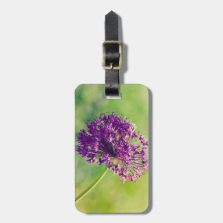 Wild garlic flower luggage tag