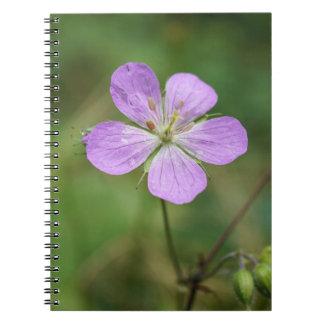Wild Geranium Pink Wildflower Notebook