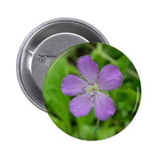 Wild Geranium Wildflower Button