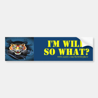 Wild girls bumper sticker