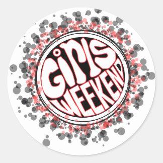 Wild Girls Weekend Classic Round Sticker