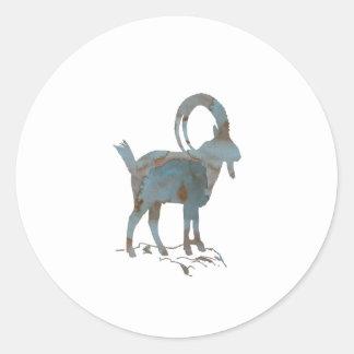 Wild Goat Classic Round Sticker