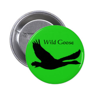 Wild Goose Button Badge with light background
