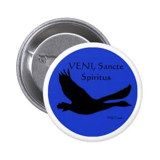 Wild Goose Button - VENI Sancte Spiritus
