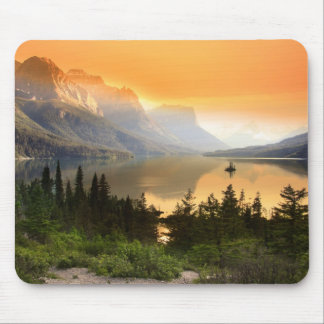 Wild goose island in Glacier national park Mouse Pad