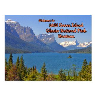 Wild Goose Island St Mary Lake Montana Postcard