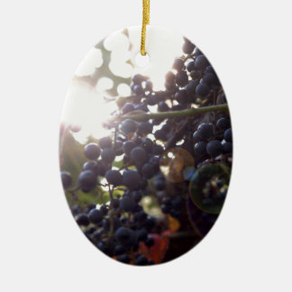 Wild Grapes Ceramic Ornament
