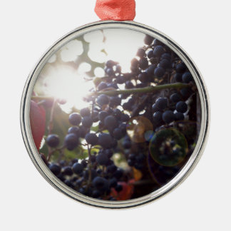 Wild Grapes Metal Ornament