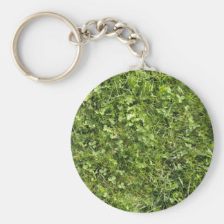 Wild grass and clover texture key chains