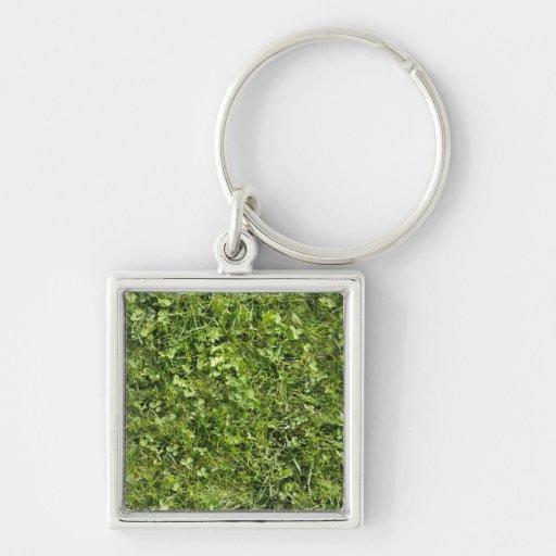 Wild grass and clover texture keychains
