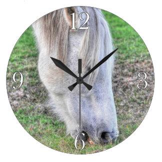 Wild Grazing New Forest Pony Hampshire, England Wallclock