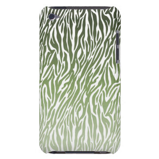 Wild Green Zebra Print Barely There iPod Cover