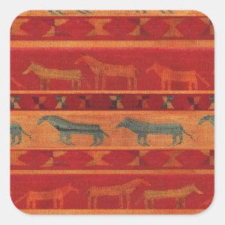 Wild Gypsy Mustangs Square Sticker