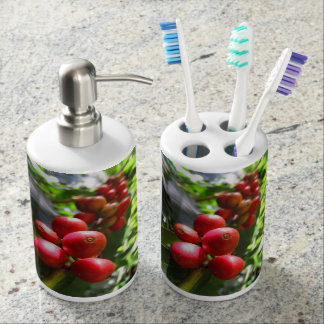 Wild Hawaiian Coffee Soap Dispenser And Toothbrush Holder