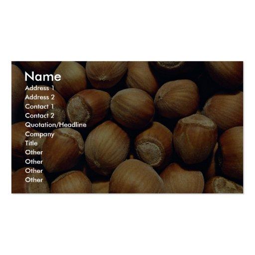 Wild hazelnut business card templates