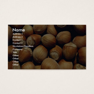 Wild hazelnut business card
